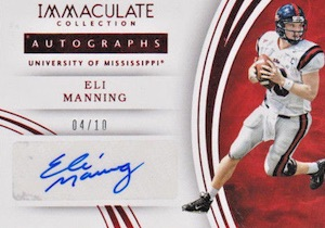 2016 Panini Immaculate Collegiate Football Autographs Eli Manning