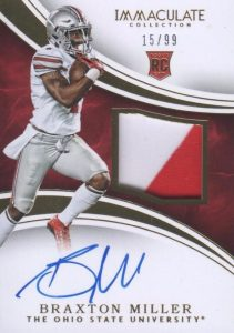 2016 Panini Immaculate Collegiate Football Patches Autographs Braxton Miller