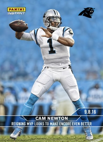 2016 Panini Instant NFL Football 1 Cam Newton front
